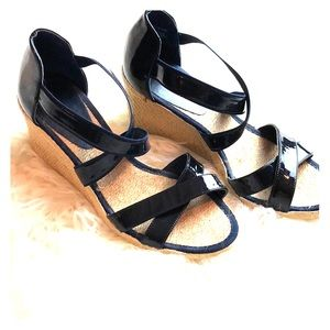 Ralph Lauren Cortney Latrice Wedges sz 8